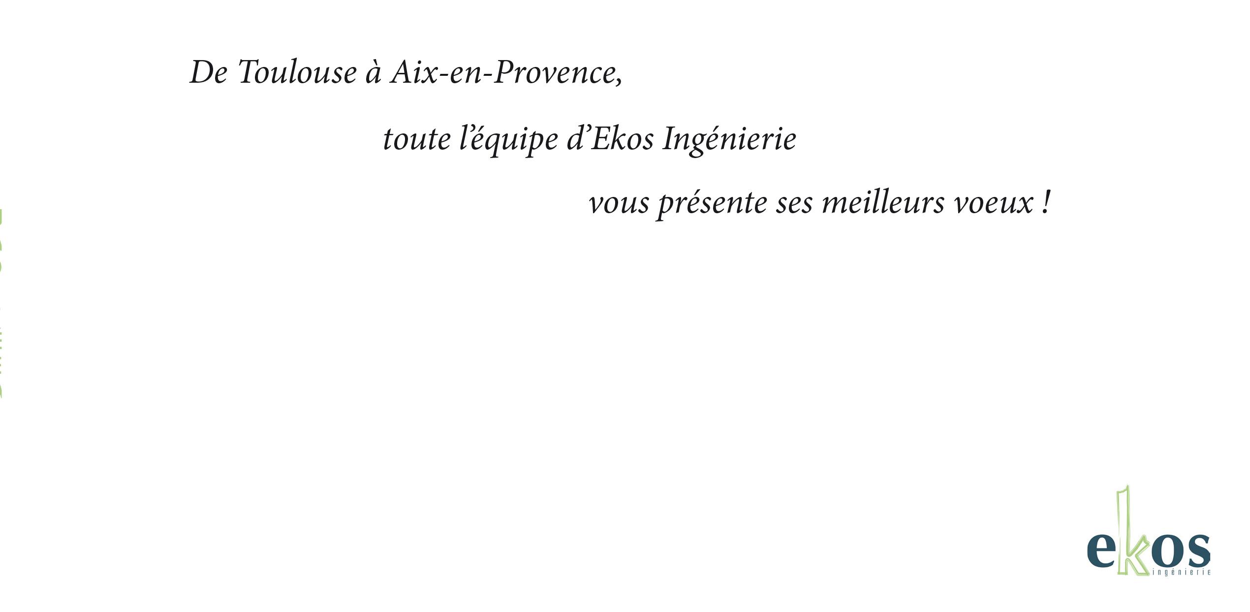 Carte de voeux Pour Ekos Ingéniérie 2017
