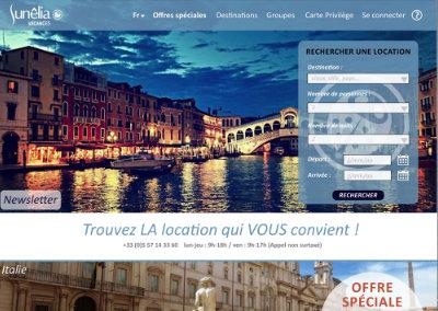 Maquette site web – Sunêlia